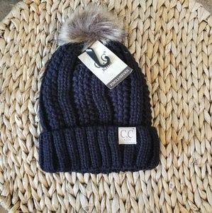 C.C. toddler beanie with pom